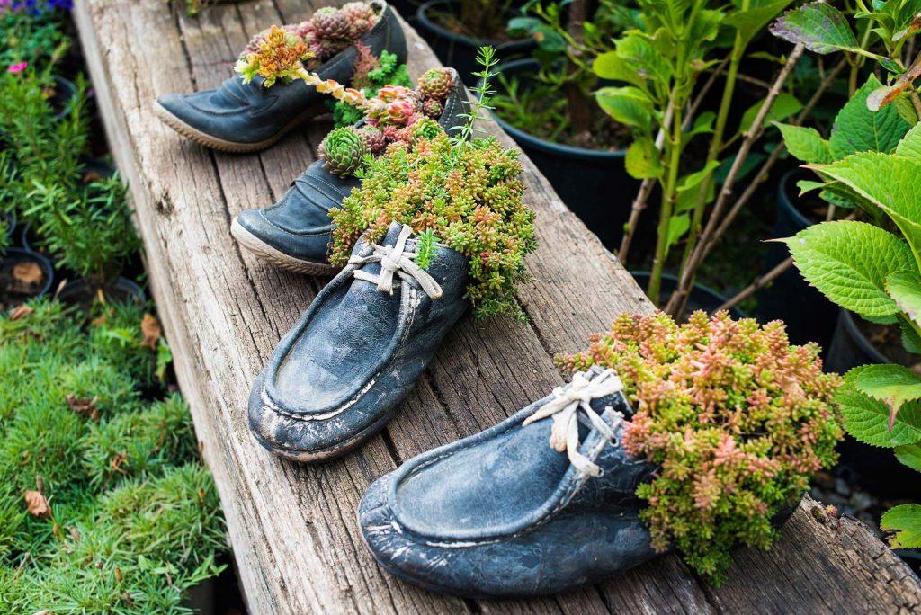 cipőből virágtartó